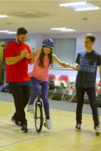 Building confidence with circus skills training at The Mix, Nov 2016